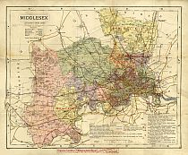 Groom's New Map Of Middlesex c1883